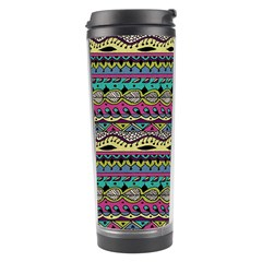 Aztec Pattern Cool Colors Travel Tumbler