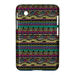 Aztec Pattern Cool Colors Samsung Galaxy Tab 2 (7 ) P3100 Hardshell Case  by BangZart