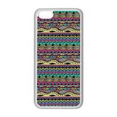 Aztec Pattern Cool Colors Apple Iphone 5c Seamless Case (white)