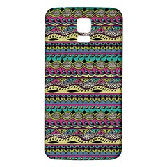 Aztec Pattern Cool Colors Samsung Galaxy S5 Back Case (white)