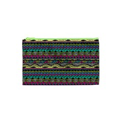 Aztec Pattern Cool Colors Cosmetic Bag (xs) by BangZart