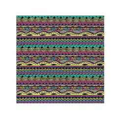 Aztec Pattern Cool Colors Small Satin Scarf (square) by BangZart