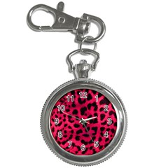 Leopard Skin Key Chain Watches