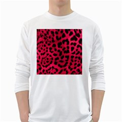 Leopard Skin White Long Sleeve T Shirts