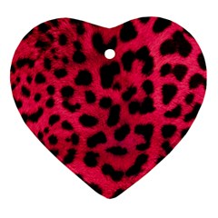 Leopard Skin Heart Ornament (two Sides) by BangZart