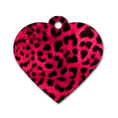 Leopard Skin Dog Tag Heart (one Side) by BangZart