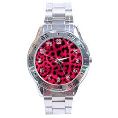 Leopard Skin Stainless Steel Analogue Watch by BangZart