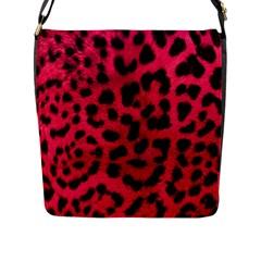 Leopard Skin Flap Messenger Bag (l)  by BangZart
