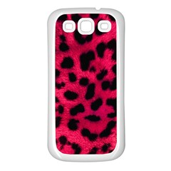 Leopard Skin Samsung Galaxy S3 Back Case (white) by BangZart