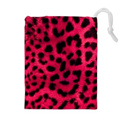 Leopard Skin Drawstring Pouches (extra Large) by BangZart