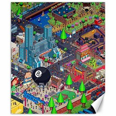 Pixel Art City Canvas 8  X 10  by BangZart
