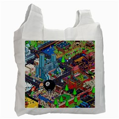 Pixel Art City Recycle Bag (two Side)