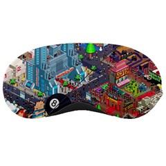 Pixel Art City Sleeping Masks