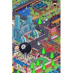 Pixel Art City 5 5  X 8 5  Notebooks by BangZart