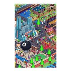 Pixel Art City Shower Curtain 48  X 72  (small)