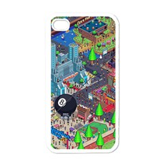 Pixel Art City Apple Iphone 4 Case (white)