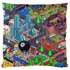 Pixel Art City Large Cushion Case (two Sides) by BangZart