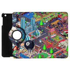 Pixel Art City Apple Ipad Mini Flip 360 Case
