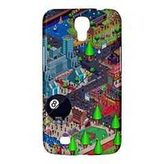 Pixel Art City Samsung Galaxy Mega 6 3  I9200 Hardshell Case by BangZart