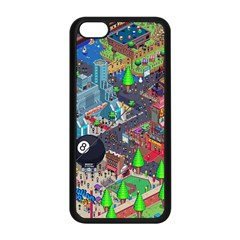 Pixel Art City Apple Iphone 5c Seamless Case (black)