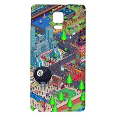 Pixel Art City Galaxy Note 4 Back Case by BangZart