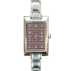 Aztec Pattern Patterns Rectangle Italian Charm Watch