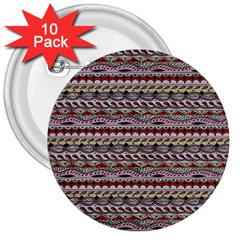 Aztec Pattern Patterns 3  Buttons (10 Pack)  by BangZart