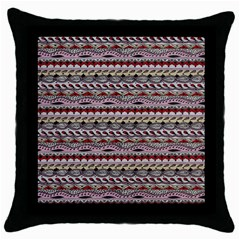 Aztec Pattern Patterns Throw Pillow Case (black)