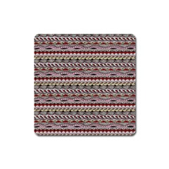 Aztec Pattern Patterns Square Magnet by BangZart