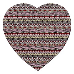 Aztec Pattern Patterns Jigsaw Puzzle (heart)