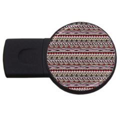 Aztec Pattern Patterns Usb Flash Drive Round (4 Gb) by BangZart