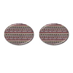 Aztec Pattern Patterns Cufflinks (oval)