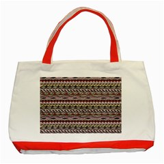 Aztec Pattern Patterns Classic Tote Bag (red) by BangZart