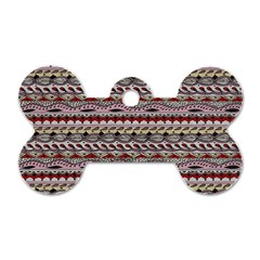 Aztec Pattern Patterns Dog Tag Bone (one Side)