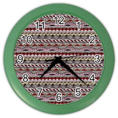 Aztec Pattern Patterns Color Wall Clocks
