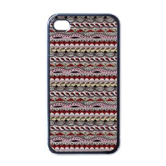Aztec Pattern Patterns Apple Iphone 4 Case (black) by BangZart