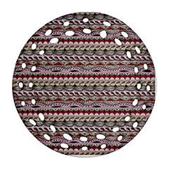 Aztec Pattern Patterns Ornament (round Filigree)