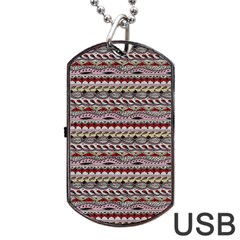Aztec Pattern Patterns Dog Tag Usb Flash (two Sides) by BangZart