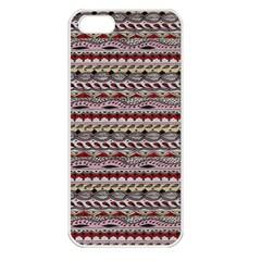 Aztec Pattern Patterns Apple Iphone 5 Seamless Case (white)