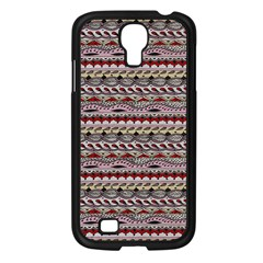 Aztec Pattern Patterns Samsung Galaxy S4 I9500/ I9505 Case (black) by BangZart