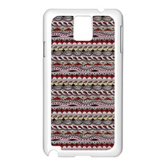 Aztec Pattern Patterns Samsung Galaxy Note 3 N9005 Case (white) by BangZart
