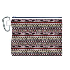 Aztec Pattern Patterns Canvas Cosmetic Bag (l)