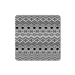 Aztec Design  Pattern Square Magnet by BangZart