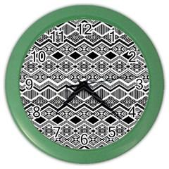 Aztec Design  Pattern Color Wall Clocks by BangZart