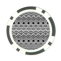 Aztec Design  Pattern Poker Chip Card Guard