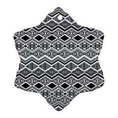 Aztec Design  Pattern Ornament (snowflake) by BangZart