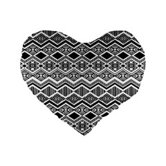 Aztec Design  Pattern Standard 16  Premium Heart Shape Cushions by BangZart