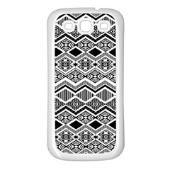 Aztec Design  Pattern Samsung Galaxy S3 Back Case (white) by BangZart