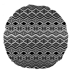 Aztec Design  Pattern Large 18  Premium Flano Round Cushions by BangZart