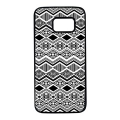 Aztec Design  Pattern Samsung Galaxy S7 Black Seamless Case by BangZart